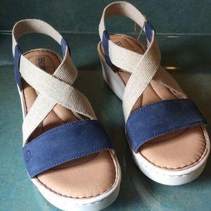 Born Sandal size 9M (40.5) blue denim jute